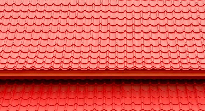 Red roof top background and texture