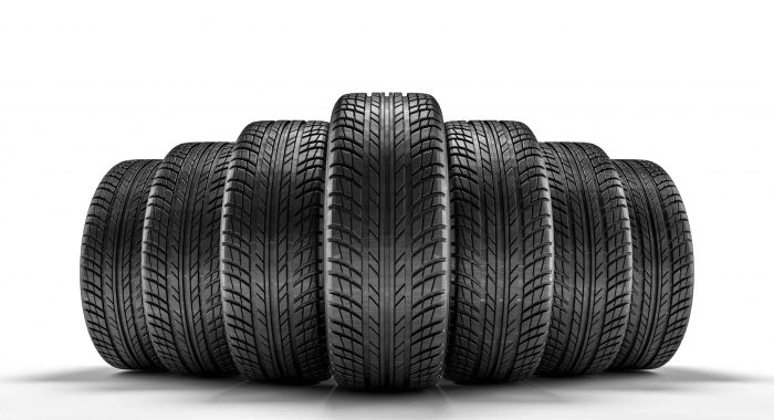 3d image of unused car tires